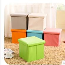 PU leather folding storage stool stool stool cover shoes toy storage box sofa stool