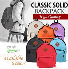 ( SPECIAL FREE! 1+1 ) CLASSIC SOLID BACKPACK ★ HIGH QUALITY _ AVAILABLE 7 COLORS ★