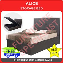 Queen Size Storage Bed WITH FREE 10 Inch Eurotop SPRING MATTRESS| Exclusive Qoo10 Promotion
