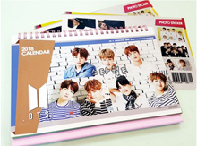 BTS Calendar Bangtan Boys BTS 2019-2020 /Desk Calendar/BTS Goods/Diary Planner/Photo message card