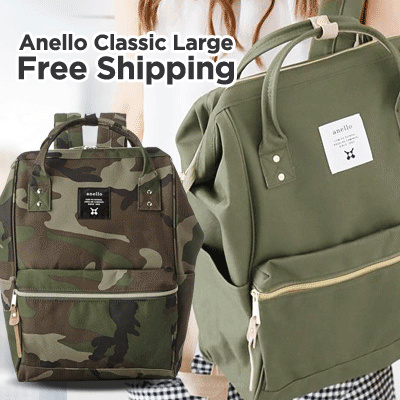 ANELLO LARGE CLASSIC TERMURAH!FREE SHIPPING!UNISEX CASUAL BACKPACK_BEST SELLER in JAPAN*BEST QUALITY Deals for only Rp189.000 instead of Rp189.000