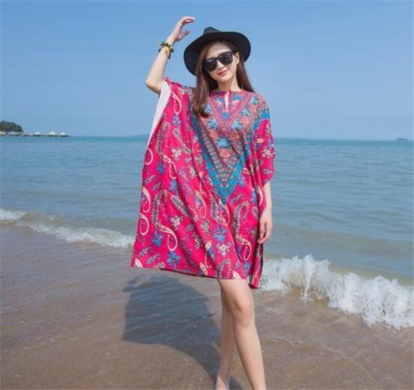 レディースワンピース ビーチワンピース ボヘミア風 カジュアル ファッション ハイセンス 着心地いい おしゃれ 夏 レディースワンピース