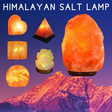 Himalayan Salt Lamp / Natural Air Purifier / Pink Crystal /  Wall / Table Lamp With Dimmer Switch