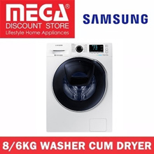 SAMSUNG WD80K6410OW 8/6KG WASHER CUM DRYER / LOCAL WARRANTY