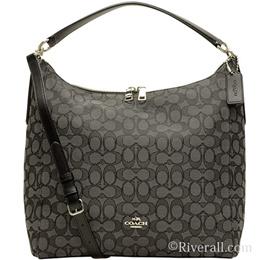 coach hobo bags outlet p2oi  Coach COACH 2way Handbag Black Smoke 脳 Black Canvas 脳 Leather f 58327 svdk  6 Outlet
