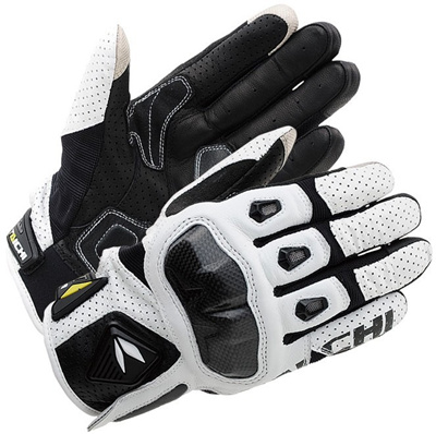 RS TAICHI RST410 ARMED LEATHER MESH Racing GLOVES With mcFit Carbon Protector touchscreen 3 size