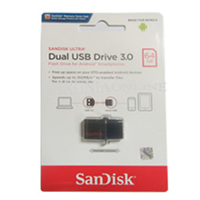 Sandisk Flashdisk USB 3 OTG 64GB /UP TO 130 MB/S - GARANSI RESMI
