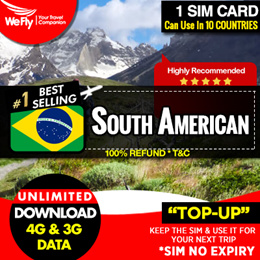 South American SIM Card Data Plan -  Cards For 11 Countries Available