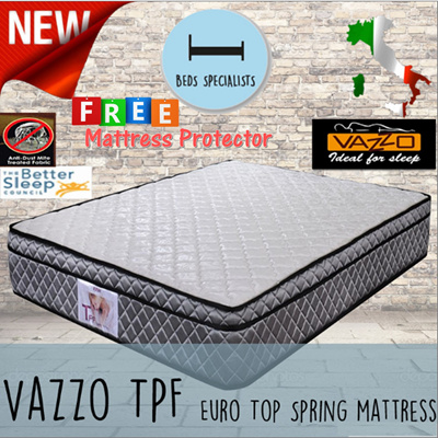 Us 147 26 51 Beds Specialist Vazzo Tpf 10 Inch Euro Top Spring Mattress Good Review Free Protector