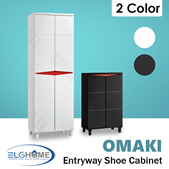 【OMAKI】 Entryway Shoe Storage Cabinet/Modern Wood Tall Shoe Organizer/Household Furniture/Shoe Rack