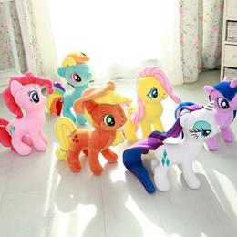 My Little Pony Plush Toys Soft Toys 35cm - The Main Six: Apple Jack Fluttershy Pinkie Pie etcetera