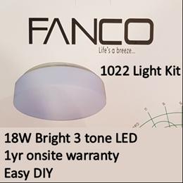 Fanco ceiling fan light kit 1022/ 3 tone 18W LED Light kit