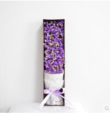 Qoo10 Gypsophila Lavender Dried Flowers Bouquet Gift Box Birthday Big Bunch Furniture Deco