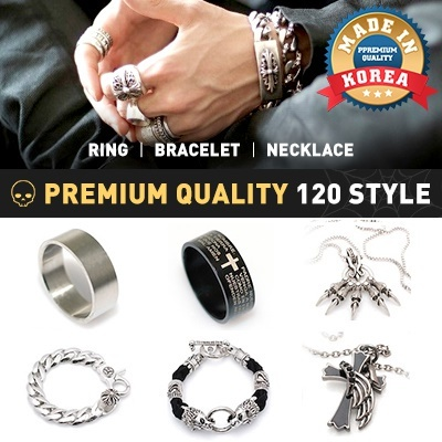 a592593c27f7 COUPON  ☆EVENT ☆ MADE IN KOREA 234 Type Men Ring Necklace Bracelet keyring  mens metal pendant
