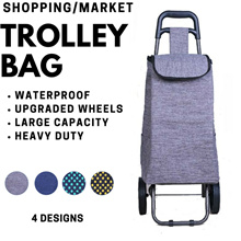 Trolley Bag for Groceries / Shopping / Market [ Foldable | Durable | Heavy Duty ]