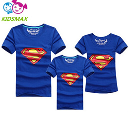 1pcs Fashion Superman Family Matching Outfits T-shirt 11 Colors Clothes For matching family clothes