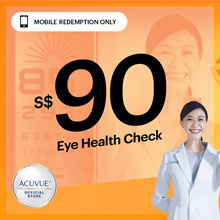 $90 Eye Health Check Voucher at Special Price◆ Free $10 Grab or Food Panda E-Voucher