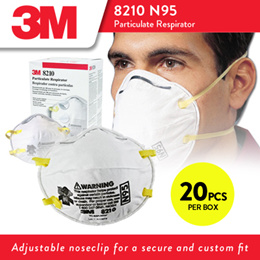 3M™ Particulate Respirator 8210 N95 Mask 1 Case (8 Boxes)