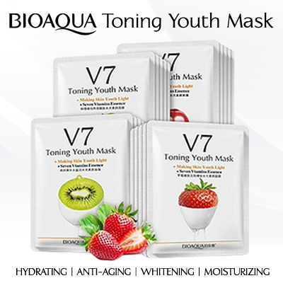 10PCS BioAqua V7 Toning Youth Mask Deals for only S$14.9 instead of S$14.9