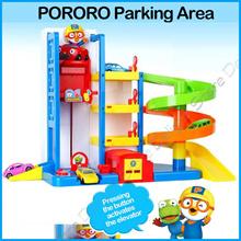 ◆Authentic◆Pororo Korea Parking Tower Toy Robocar Police Tayo Little bus