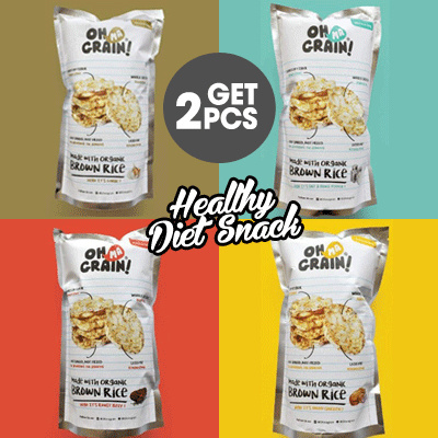 Buy 1 Get 1 Oh Ma Grain! Organic Brown Rice Cracker Guilty Free Snack for Diet
