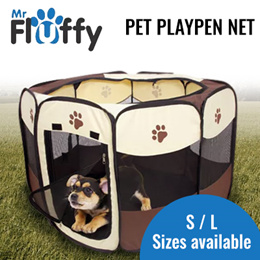 Pet Playpen Net / Folding Portable Dog Fence Puppy Kennel Breathable Summer Tent Playpen For Dogs