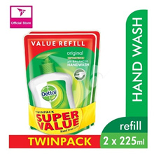 Dettol Anti-Bacterial Hand Wash - Original - Refill Pouch Twin Pack 225ML