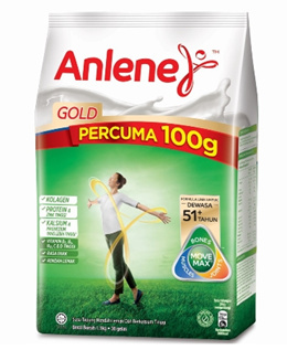 Anlene Gold Milk Powder 1kg ( limited Free 100g event )