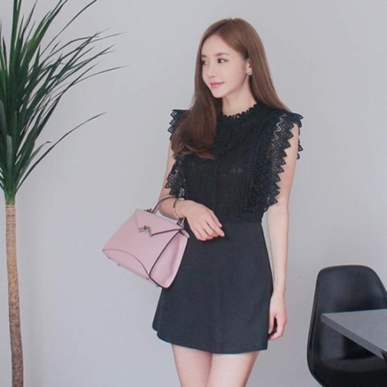 パビエンポムキン行き来するようにパビエンポムキンフィエスタつなぎ 塔/袖なしのワンピース/ 韓国ファッション