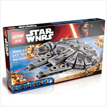 New LEPIN Star Wars The Force Awakens Millennium Falcon Model Building Kits Rey BB-8 Minifigure