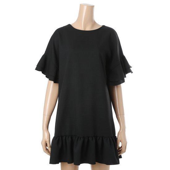 ナインステップマランやフリルひもワンピースN17NK7205R 面ワンピース/ 韓国ファッション