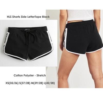 HLS Shorts Side Letter tape Black