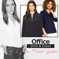 New Collection! Executive Shirt - Good Material - Pakaian Wanita - Office - Casual
