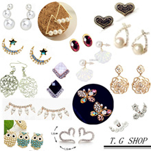 [New Arrival] ♡ SALE ♡100 + Cute earrings ♪the talk of  magazine♥ Western / Japan / Korea style accessories ♥fashion earrings♥(1 shipping fee for 40 pairs!)