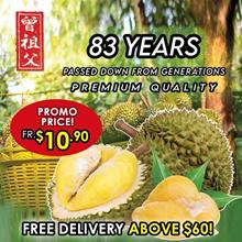 [Zeng Zu Fu Durian] 📢 $9.90 NEW LAUNCH PROMO - Old Tree Mao Shan Wang | Red Prawn | XO D24 | Icy Frozen 💯