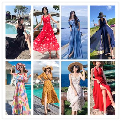 946c81fd361a 2018 Stylish Bohemian Dress Floral beach dress Beach pants Bohemian  pants Bloomers
