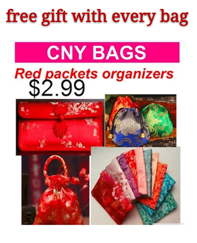 $2.99 Red packet organizer / CNY Gift / Chinese New Year Red Packet Pouch / Ang Bao Organizer * silk