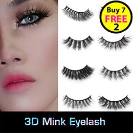 3D Mink Eyelashes Extensions Natural Handmade Fake Eyelashes