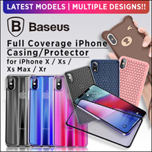 💎Little red Store💎Baseus Case For iPhone Xs Xr Xs Max Full Coverage Protective Soft Silicoe