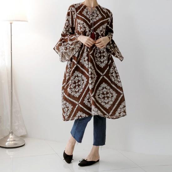 ディエイスフランコ・エスニックワンピース プリントのワンピース/ 韓国ファッション