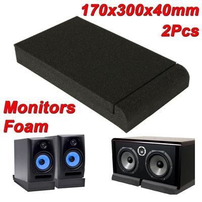 2PCS Black Isolator Sponge Pads for 6 5 Monitors Foam Speaker Isolation  Studio 监听音箱防滑海绵减震防震垫