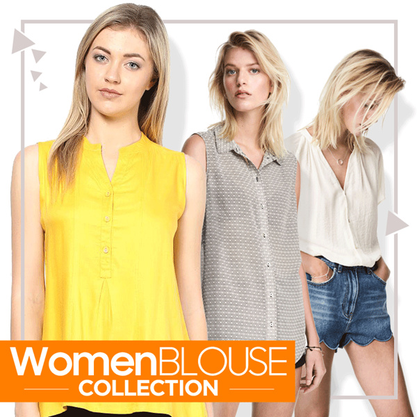 New Collection Branded Women Sleeveless Blouse Deals for only Rp28.000 instead of Rp28.000
