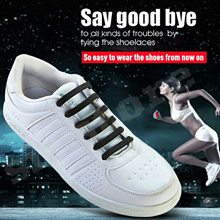 Say goodbye to tying shoelaces with Eco-friendly silicone shoelace for sneaker sports running shoes