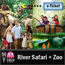 【MY TRIP】Singapore Zoo(include tram ride) + River Safari(include boat ride) Combo E-Ticket 河川生态园+动物园