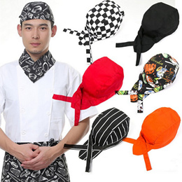 Colourful Pirate Chef Cap Skull Cap Professional Catering Various Chef Hat