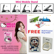 * High Quality Low Price * iRing with FREE HOOK! / HelloKitty Ring/ Bunker ring/Doraemon iring/ring holder /Phone stand for IPhone Samsung/all type of phone! Handphone Holder ! Local seller