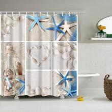 Shell Wishing Bottles Starfish Landscape Design Custom Shower Curtains Bathroom Waterproof Mildew Po