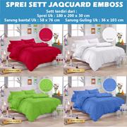 Sprei Sett Jacquard Emboss Royals / Size : 180X200x30 Cm / Tidak termasuk bedcover