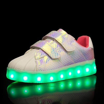 Children S Colorful Led Light Shoes With Lights Kids Fashion Velcro Sports Cool Flash Casual