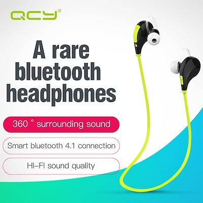 QCY QY7 sports wireless bluetooth 4 1 EDR headphones stereo earphones  headset with Mic calls earbuds